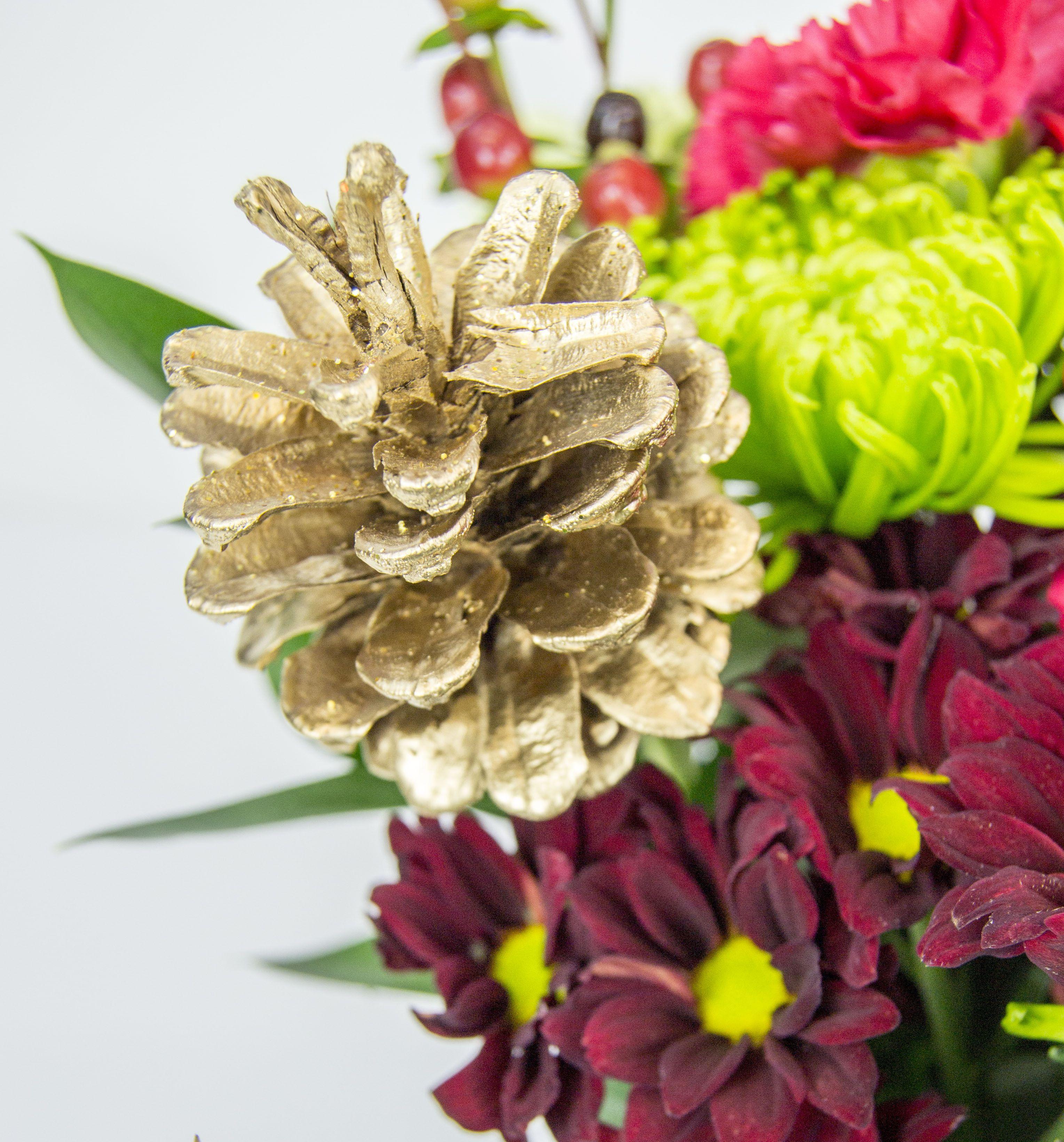 Accessorize Your Christmas Bouquet Flower Press