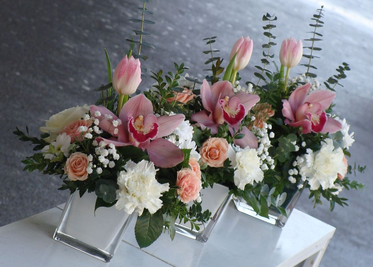 Modern style christmas bouquets flower press