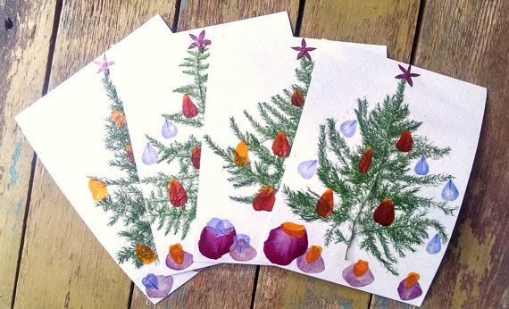 ... Pressed Flowers Christmas Card. Christmas Cards DIY Great Pictures