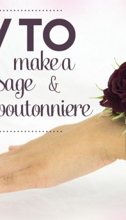 How To Make A Flower Corsage