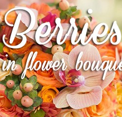Berries In Flower Bouquets
