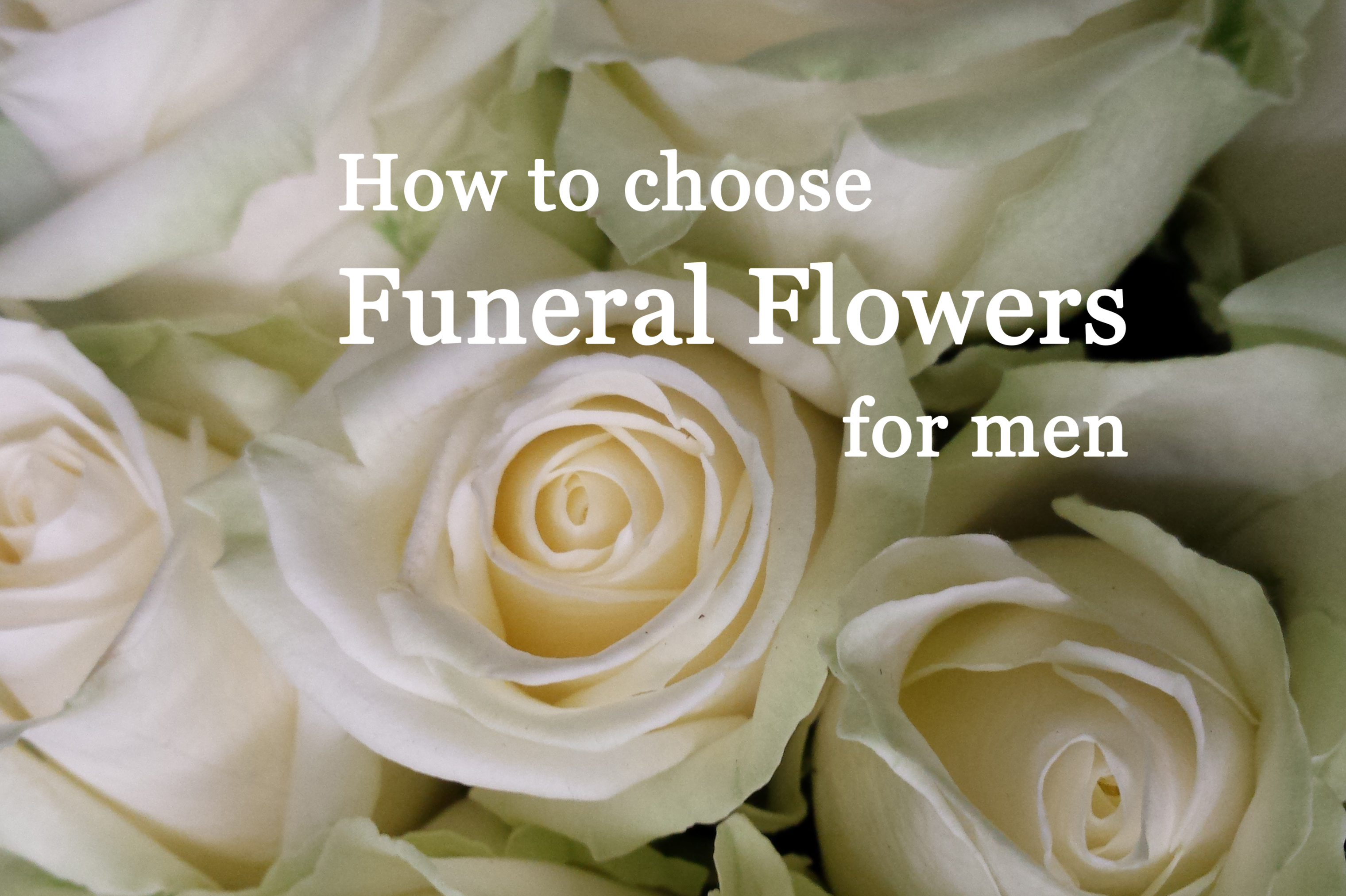 Funeral Flowers Suitable For Menflower Press