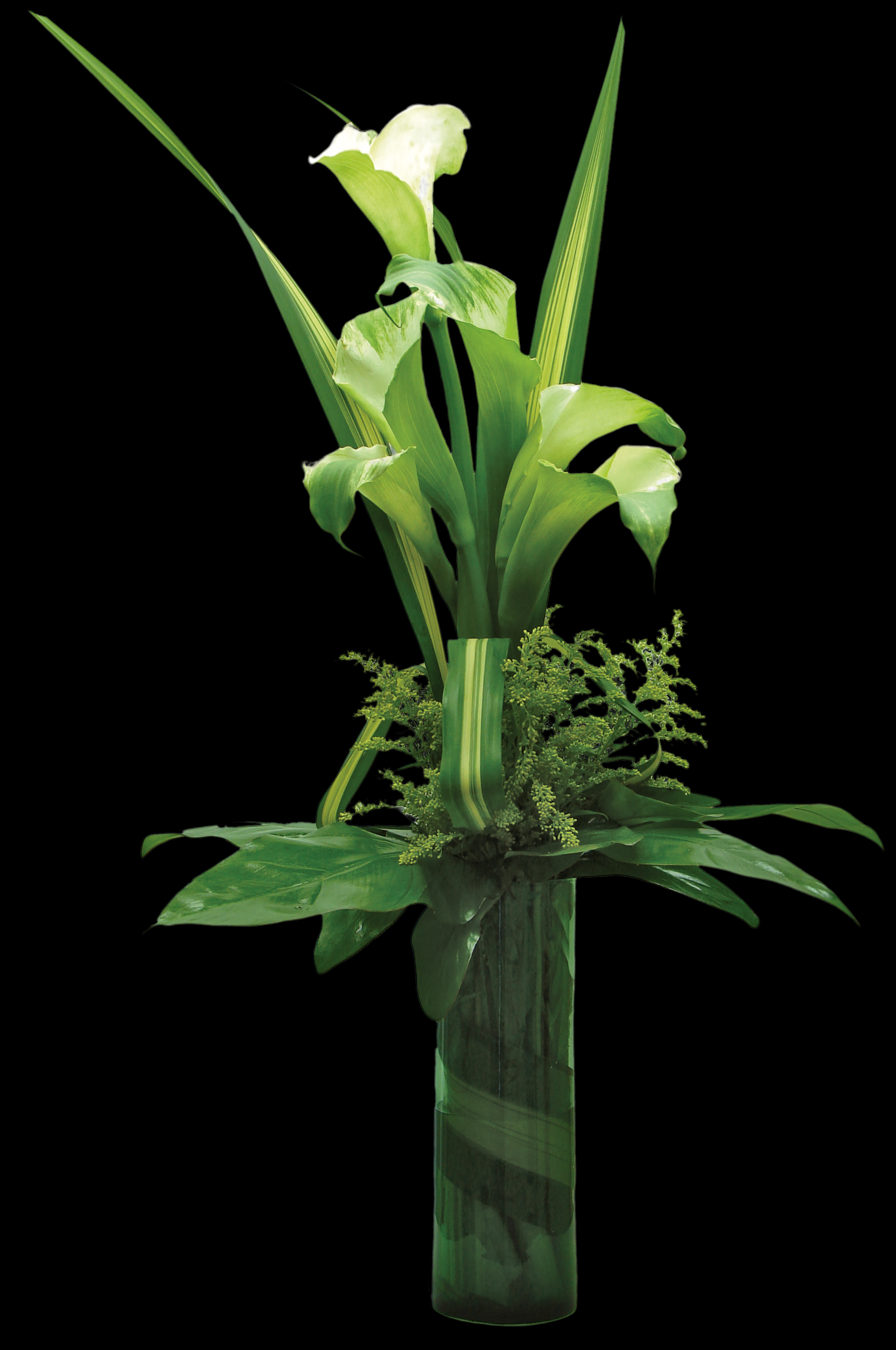 How to make a green flower arrangement