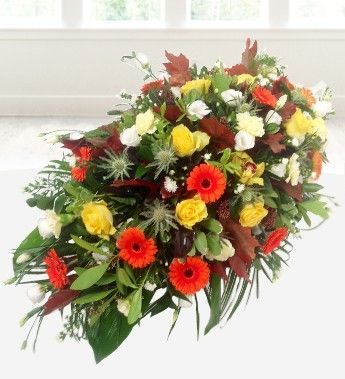 Funeral flowers for autumn