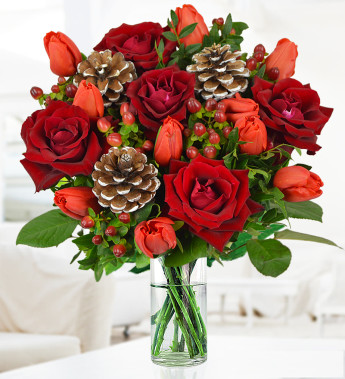 Order Christmas flowers online and save money