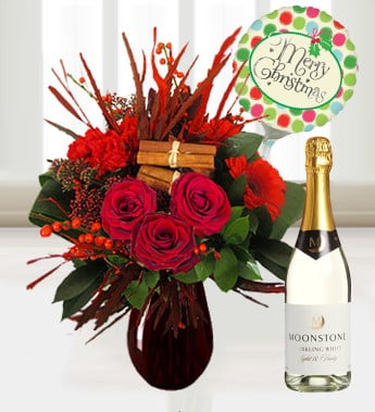Send Christmas flowers to loved ones abroad