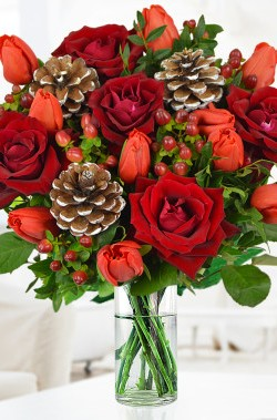 Make A Christmas Bouquet With Vase Fillers Flower