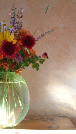 Fresh flowers from realtors to clients