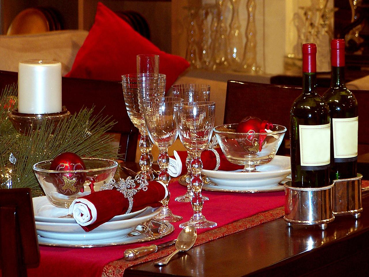 Christmas table flower ideas