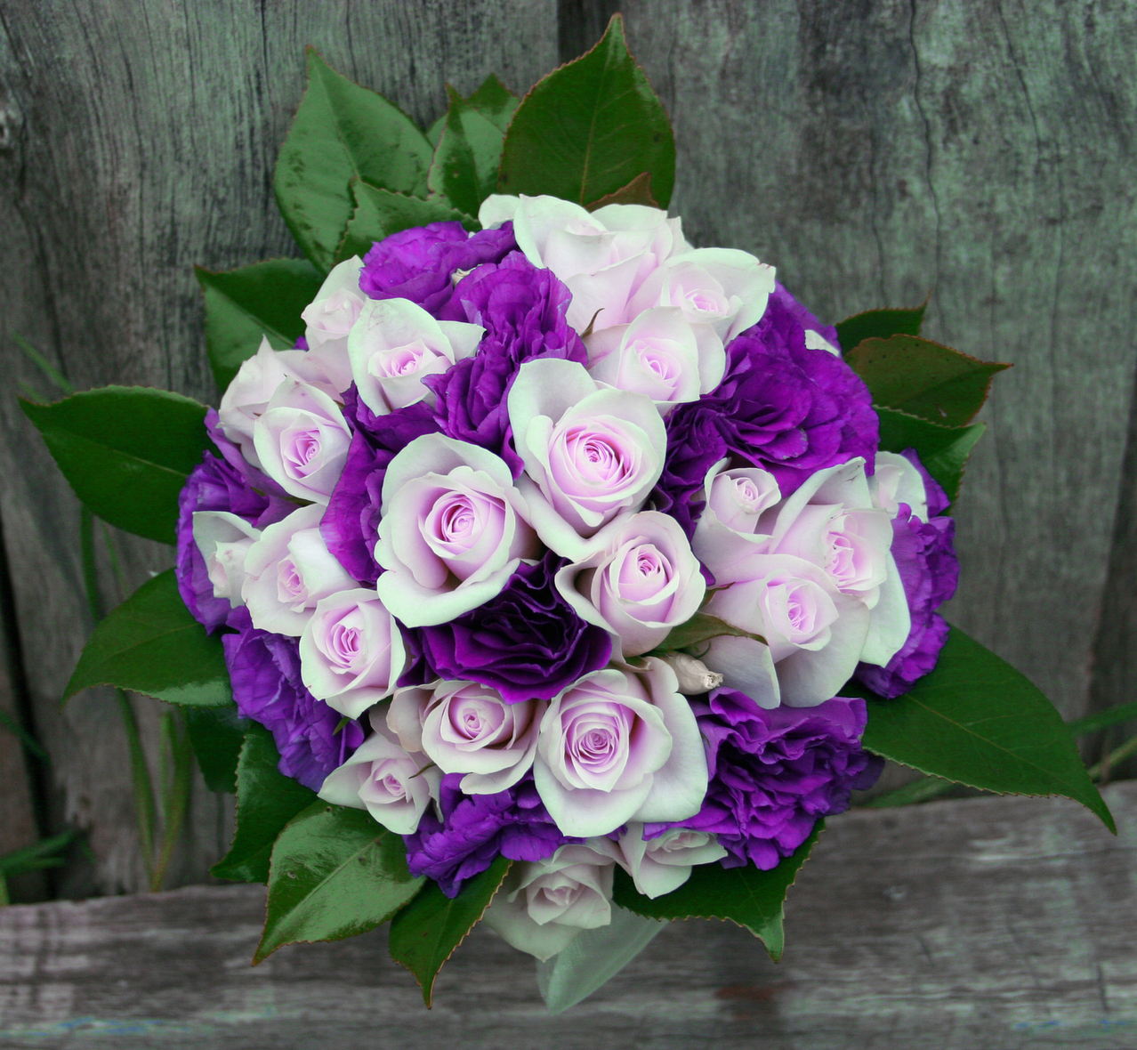 Purple wedding blooms