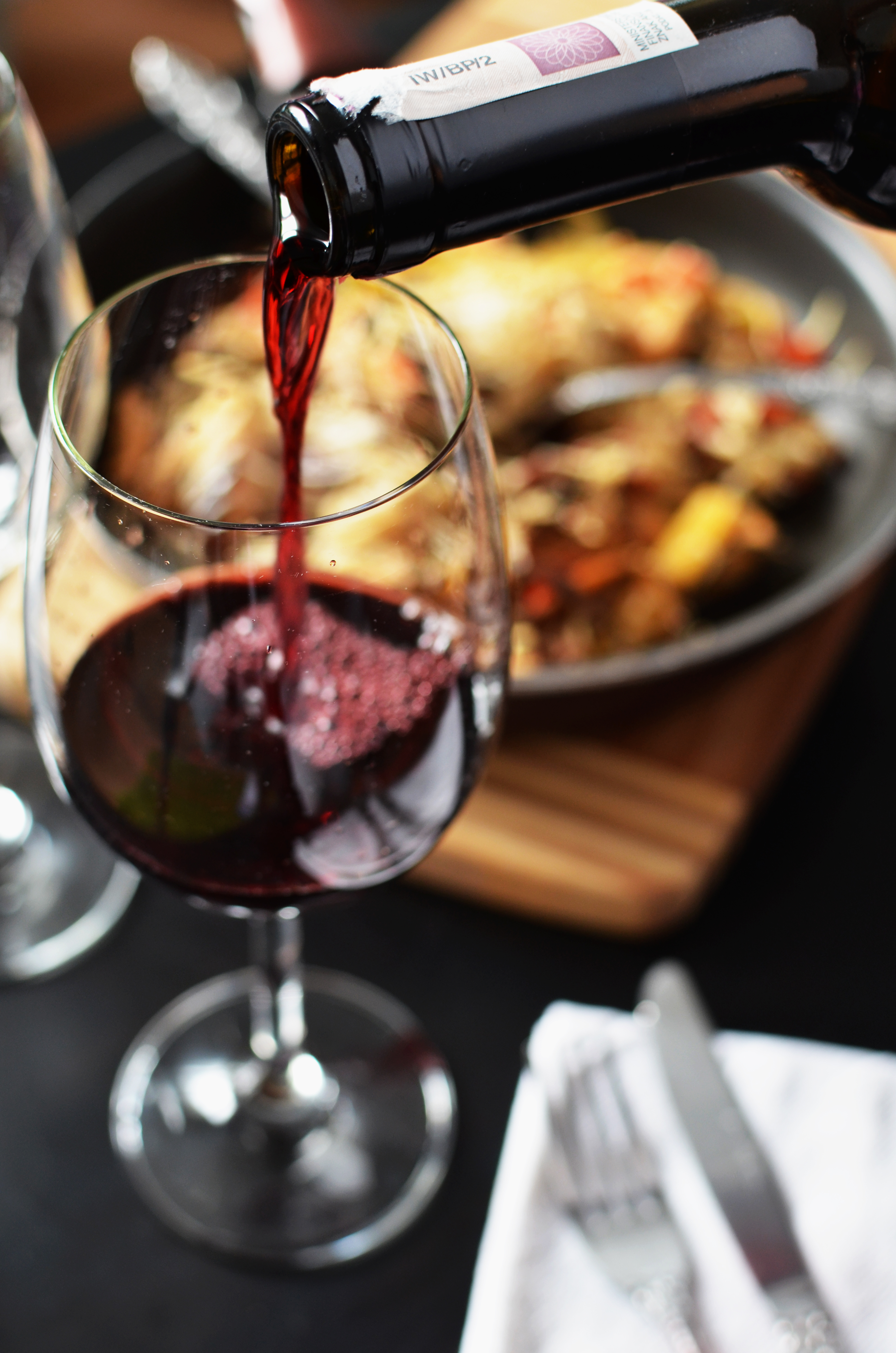 Pairing meals with red wine
