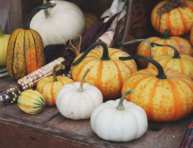 Pumpkins in your flower arrangements
