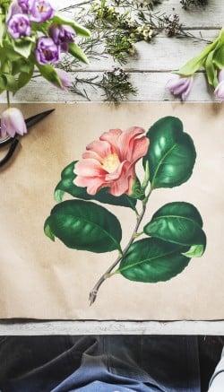 Winter flower centrepiece