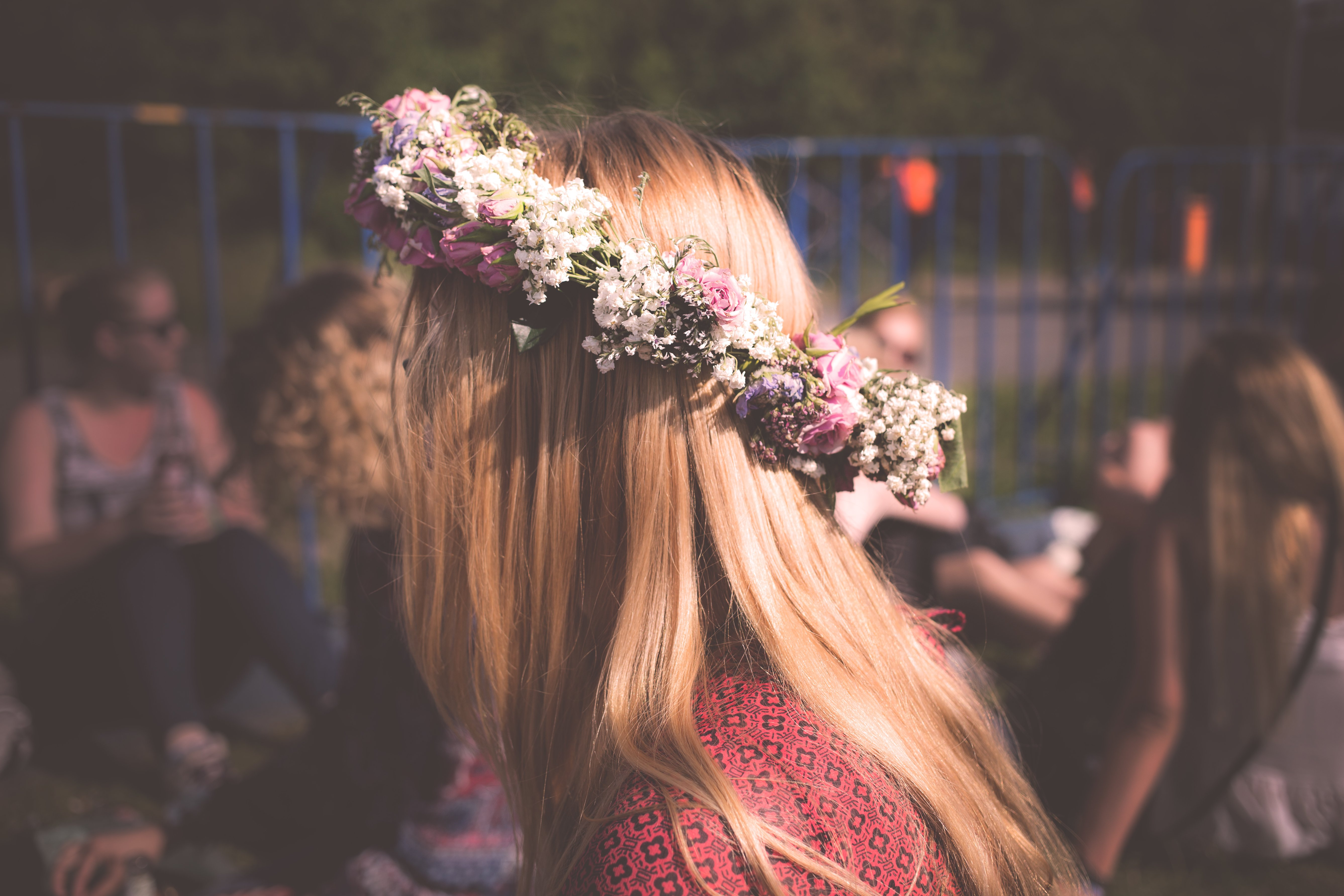 Making a New Year's Floral Crown